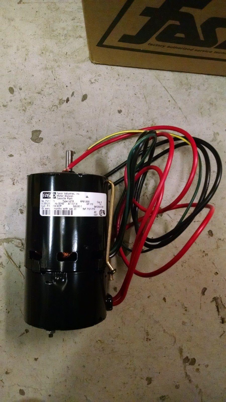 Fasco fan motor 7121 8375 sw280 1 1 10 hp type u21b 3000 for Fasco evaporator fan motor